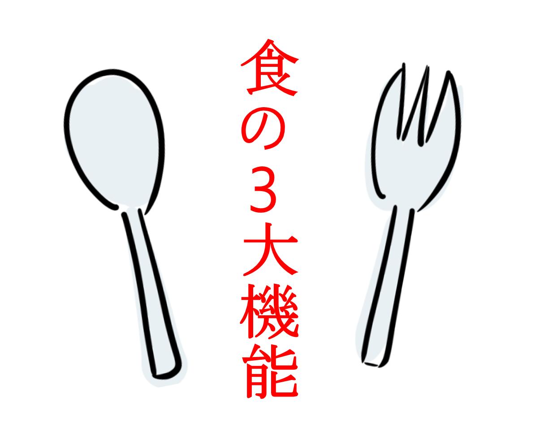 【自給栄養学1】食物の3大機能
